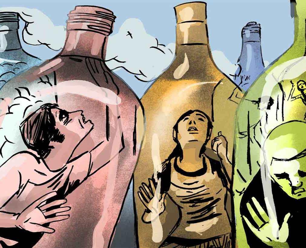 Алкоголизм - попытка спрятаться от проблем